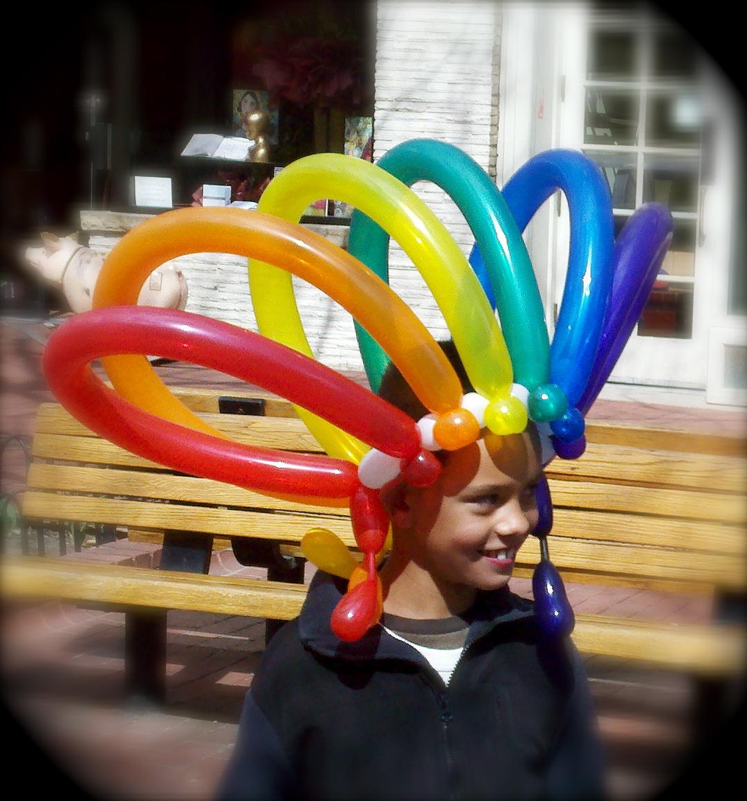 Balloon hats tag hats