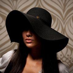 Big Black Floppy Sun Hat