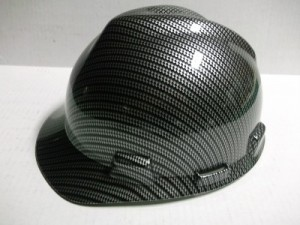 Black Carbon Fiber Hard Hat