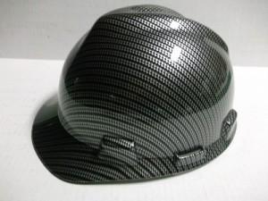 Black Carbon Fiber Hard Hat