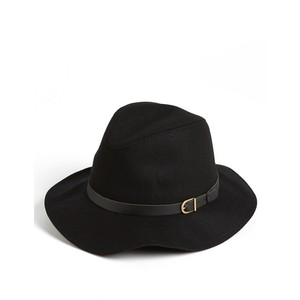 Black Felt Panama Hat