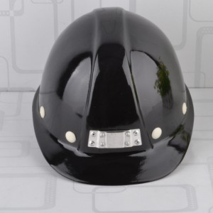 Black Fiberglass Hard Hat