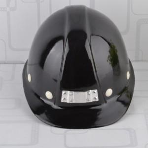 Black Fiberglass Hard Hat