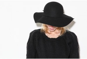 Black Floppy Sun Hat Image