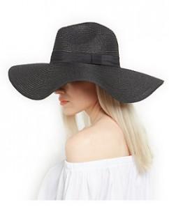 Black Floppy Sun Hat Photo