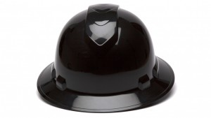 Black Full Brim Hard Hats