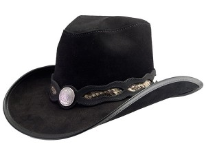 Black Leather Cowboy Hats