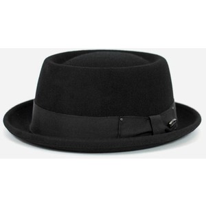 Black Pork Pie Hat