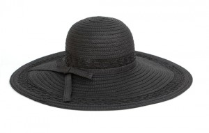 Black Straw Beach Hat