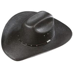 Black Straw Cowboy Hat