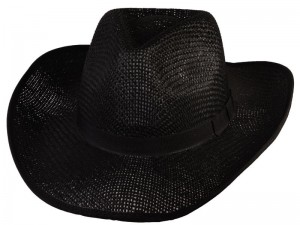 Black Straw Cowboy Hats