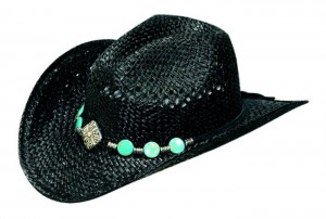 Black Straw Cowgirl Hat