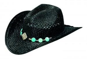 Black Straw Cowgirl Hat