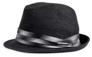 Black Straw Fedora Hat