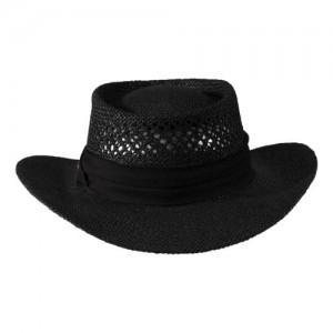 Black Straw Hat Mens
