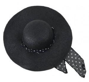 Black Straw Hat Womens