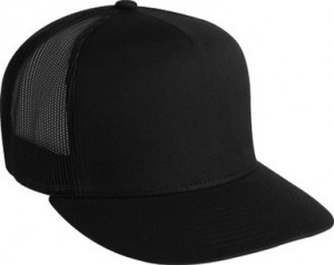 Black Trucker Hat Snapback
