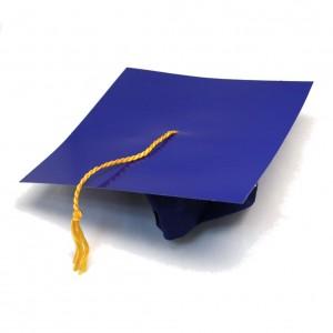Blue Graduation Hat
