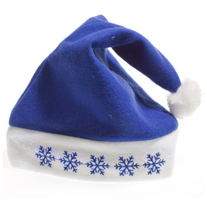 Blue Santa Hats