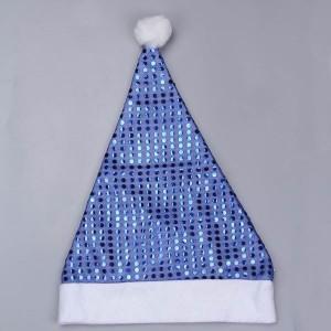 Blue Sequin Santa Hat