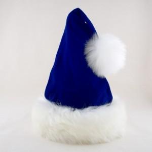 Blue Velvet Santa Hat