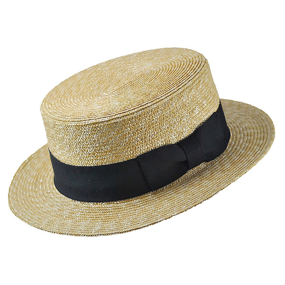 A boater (also straw boater, basher, skimmer, cady, katie, canotier, somer, sennit hat, or in Japan, can-can hat, suruken) is a kind of summer hat worn by men, regarded as somewhat formal, and particularly popular in the late 19th century and early 20th century.