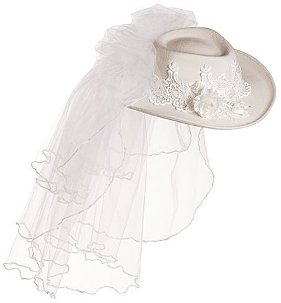 Bridal Cowboy Hat With Veil