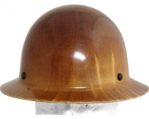Brown Fiberglass Hard Hat