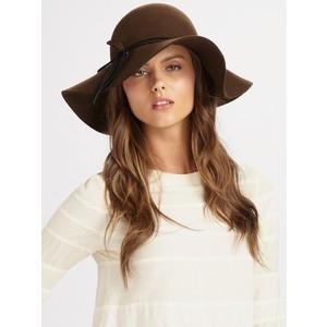 Brown Wool Floppy Hat