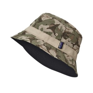 Camo Bucket Hat on Head