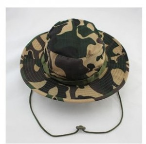 Camo Bucket Hat with String
