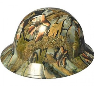 Camo Full Brim Hard Hats