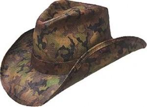 Camo Straw Cowboy Hat