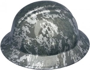Camouflage Full Brim Hard Hats