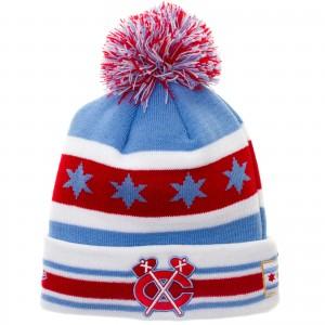 Chicago Flag Blackhawks Winter Hat