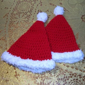 Crochet Santa Hat Newborn