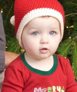 Crochet Santa Hat for Toddler