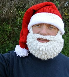 Crochet Santa Hat with Beard
