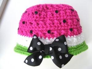 Crochet Watermelon Hat Patterns
