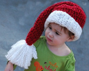 Crocheted Santa Hat