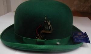 Dark Green Bowler Hat