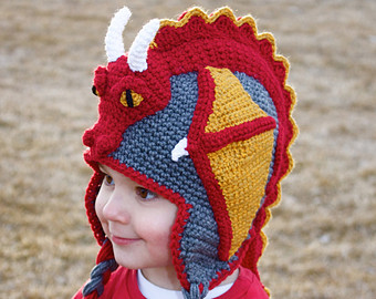 Knitting Pattern Dragon Hat : Dragon Hats   Tag Hats
