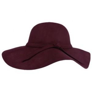 Felt Wide Brim Bowler Hat