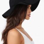 Floppy Black Sun Hat