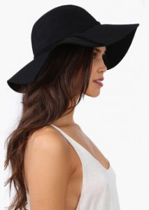 Floppy Black Sun Hat