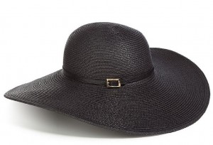Floppy Straw Hat with Wide Brim