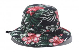 Floral Bucket Hat with String