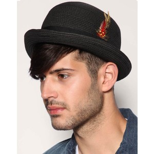Images of Straw Bowler Hat