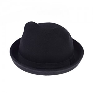 Kids Black Bowler Hat