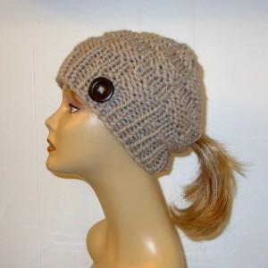 Knit Ponytail Hat